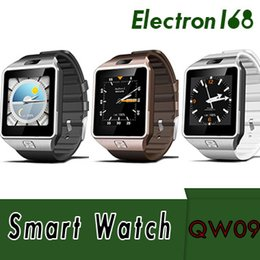 smart watch phone dual core NZ - QW09 Android 3g Smart Watch Wifi Bluetooth 4.0 MTK6572 Dual Core 512MB RAM 4GB ROM Pedometer 3G Smartwatch Phone High Quality VS DZ09