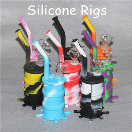 Discount bongs for sale - Hot Sale Silicon Rigs Waterpipe Silicone water Bongs Silicon Dab oil Rigs for smoking oil Rigs Silicone Hookah Bongs wit