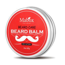 Condicionador de Barba Natural Mabox Barba Bálsamo Para Senhores 60g Natural Orgânica Bigode De Cera Para Suiças Styling Cuidados Barba Liso 3006086