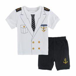 a466b8c7fd Kids Boys Captain Pajamas Infant Clothes Sets Toddler Sleepwear Children  New Year Child Pijamas For Boy Christmas Pyjamas 2T-7T