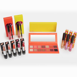Halloween Color Palette UK - 2018 Newest Hot Brand makeup set The Summer Collection Matte lipstick Eyeshadow palette Lip Gloss Cosmetics Kit DHL shipping 18sets