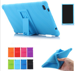 Tab pen online shopping - Soft Silicone Rubber Tablet Case for Lenovo Tab Plus TB F TB8704N Back Cover with Stand Gift Stylus Pen