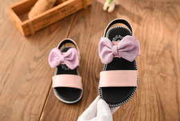 year girl sandals NZ - Kids sandals Genuine leather 2018 summer girls sandals bow princess shoes slip-resistant outsole baby sandals 1 - 8 years old
