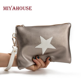 $enCountryForm.capitalKeyWord NZ - Miyahouse Soft Leather Envelope Design Handbag Women Pentagram Ladies Clutches Bag Evening Party Leather Handbag With Wristlet