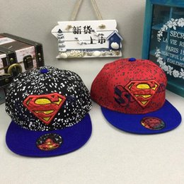 5pcs Superhero superman mix boy girl Fashion Sun Hat Cloth cap Casual  Cosplay Baseball Cap gifts Q-24 937e43e71ad1