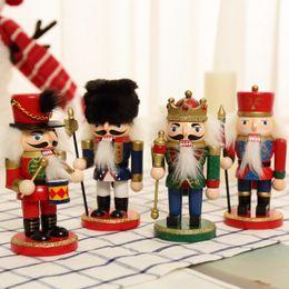 $enCountryForm.capitalKeyWord Australia - Nutcracker Puppet Zakka Creative Desktop Decoration 12cm Wood Made Christmas Ornaments Drawing Walnuts Soldiers Band Dolls