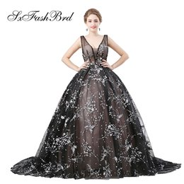 $enCountryForm.capitalKeyWord UK - Fashion Elegant Girls Dress V Neck Ball Gown Tulle With Appliques Long Party Formal Evening Dresses for Women Prom Dress Gowns