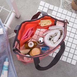 Door bag net online shopping - Summer Reseau Cool Refresh Mesh Bag Lady Travel Shopping Classic Handbag Net Cloth Beach Swim Wash Storage Packet nj bb