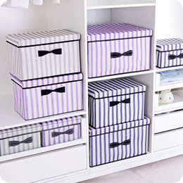 $enCountryForm.capitalKeyWord NZ - New 3 sizes folding clothes storage box clothes organizer kid toys storage bin Laundry Cupboard box desktop organizers