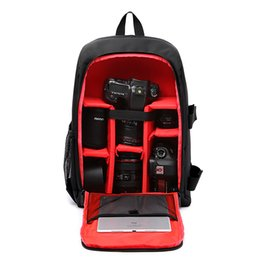 $enCountryForm.capitalKeyWord UK - DSLR Backpack Camera Video Bag Shockproof Water-resistant Photography Padded for Nikon Canon Sony DSLR Camera Lens Accessories