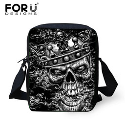 mens mini messenger bag 2019 - FORUDESIGNS Small Skull Messenger Bags for Men,Male Cool Skull Crossbody Bags,Kids Boys Mini Shoulder Bags,Mens Cross Bo