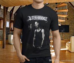 China 2018 New Fashion T Shirts Sleeve Printing Machine O-Neck Short-Sleeve Alter Bridge T Shirts For Men suppliers