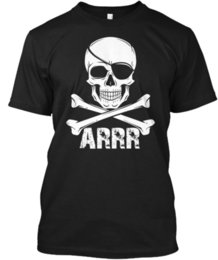 $enCountryForm.capitalKeyWord NZ - Pirate Kids Or Adults Skull - Arrr Wholesale Tagless Tee T-Shirt