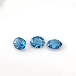 6 Photos Light Blue Gemstones UK   Synthetic Light Blue 3*4 7*10mm 9