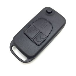 Chinese  Flip Remote Car Key Shell With HU64 Blade For Mercedes For Benz 3 Buttons Switchblade Fob ML SL S C manufacturers