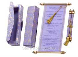 royal purple floral wedding invitations scroll party card convite de casamento wedding favors