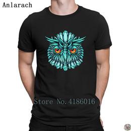 $enCountryForm.capitalKeyWord Australia - Crystal Owl Blue t-shirts Interesting Top Quality 2018 Building t shirt for men gents 100% cotton Design Letter