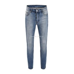 best hip hop pants 2019 - 2019SS Best version Justin Bieber Fashion Hip Hop men jeans Biker street stretch tight jeans blue 30-36 cheap best hip h