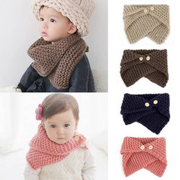 139fb688a2d Unisex Autumn Winter Baby Toddler Bibs Children s Knitted Crochet Scarf  Shawl Warm Knit Scarf For Boys Girls 0-4Y Christmas Gift