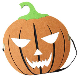 Discount kids scary costumes - Felt Pumpkin Mask Scary Horror Halloween Party Favors Novelty Decoration Costume Supplies Props for Adults Kids