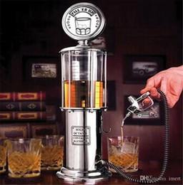 Vente en gros Meilleur cadeau de Noël! 1000CC Silver Liquour Pompe Station d'essence Bière Alcool liquide Jus d'eau liquide Distributeur de vin Distributeur de boissons