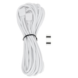 4pin Connector Australia - 5M 16.4ft 4Pin RGB LED Extension Cable Wire Connector 4Pin Female Plug with 2 4Pin Connectors for RGB 3528 5050 LED Strip Light