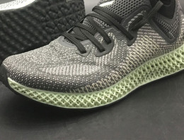 ash shoes 2019 - Futurecraft Alphaedge 4D LTD Aero Ash Green Core Black  AC8485 Men Running 4989a7803
