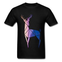 China Sacred Geometry T Shirt Men Bright Mr. Sunset Deer Elk Tshirt Men Clothes 2018 100% Organic Cotton Oversize T Shirt Anime cheap elk shirt suppliers