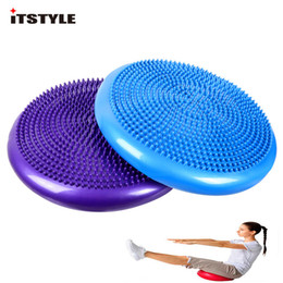 Discount massage balanced ball - ITSTYLE Twist Balance Disc Board Pad Inflatable Foot Massage ball pad Fitness Exercise Equipment Twister Gym yoga Balanc