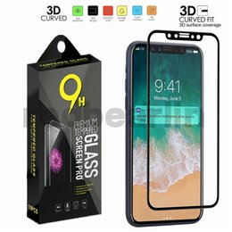 3d Glasses For Iphone Australia - Tempered Glass 3D Curved Soft Edge Carbon Fiber Screen Protector For iPhone XS MAX XS XR X Carbon fiber tempered glass with retail box