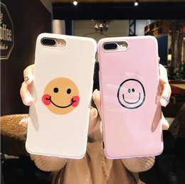 Painting Faces Australia - new Original Blu-ray hand-painted smiley face trend spring new applicable iphoneX 8 8P cell phone case