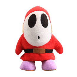 Sale Toys Super Mario UK - Hot Sale 16cm Shy Guy Super Mario Bros Plush Stuffed Doll Toy For Kids Best Holiday Gifts Wholesale