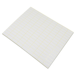 Chinese  DHL White Blank Sealing Sticker Many Different Sizes Square Design Kraft Paper Self-Adhesive DIY Gift Mark Note Office School manufacturers