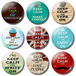 $enCountryForm.capitalKeyWord NZ - Keep Calm and Type on Fridge Magnet Keep Calm Style Cat Pet Glass Cabochon Magnetic Refrigerator Stickers Note Holder Home Decor