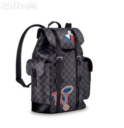 Skull Shaped Glitter UK - MEN CHRISTOPHER BACKPACK TRAVEL LUGGAGE BAG N41055 Backpack Duffle Bags Lifestyle Luggage