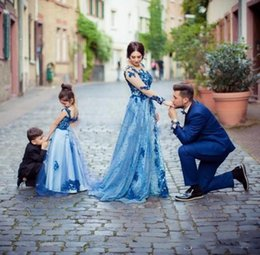 Teen models girls online shopping - 2019 Sweet Blue Girls Pageant Dresses For Teens Spaghetti Backless Floor Length Appliques Child Birthday Party Gowns Flower Girl Dress
