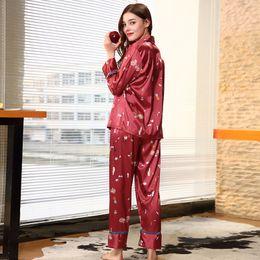 43a27f1de5 Silk pajamaS women long Sleeve online shopping - 2018 New Faux Silk Pajamas  Long Sleeve Trousers