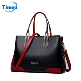 $enCountryForm.capitalKeyWord Canada - 2018 New Genuine Leather Female Bag Fashion Europe and American Style Handbag Color Block Shoulder Messenger Bags For Women
