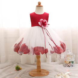 fea08b16572b Flower Baby Girl Dress For Wedding Tulle Newborn Baby 1 Year Birthday  Little Dress For Girls Infant Party Costume 12 24 Months