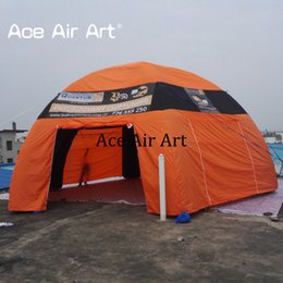 Spider tent online shopping - Exclusive design removalbe wall Huge Inflatable Spider tent manufacturers type come with air blower for car shelter or advertising no lights
