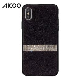 $enCountryForm.capitalKeyWord NZ - Luxury Bling Rhinestone Diamond Fur Furry Leather Hybrid PC TPU Bumper Cover for iPhone XS MAX XR X XS 8 7 6 Plus Fashion Designer OPP