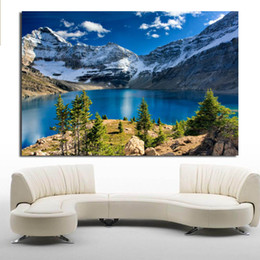 oil paintings snow landscape Canada - Snow Mountain Modern Home Decor Oil Painting Wall Pictures For Living Room Paintings On Canvas No Frame