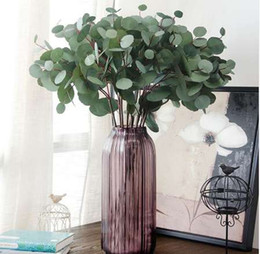 Wholesale Artificial Eucalyptus Leaf Artificial Plant CM Ornament Fashion Simulation Leaves Green Craft Beautiful Fake Plant Drop Ship