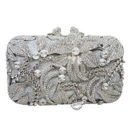 flower shape studded diamond clutch bags Luxury women crystal evening bag  prom clutch purse wedding bag sac pochette Purse SC126 87b2df6be181