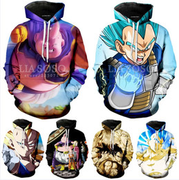 Wholesale dragon ball z hoodie online – oversize 2018 Spring Winter Men Women Anime Hoodies Dragon Ball Z Pocket Hooded Sweatshirts Kid Goku New Hoodie D Hoodies Pullovers Outerwear