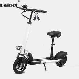 Folding bike white online shopping - Daibot Electric Kick Scooter With Seat For Adults W Two Wheel Electric Scooters Foldable Inch V V Portable Folding Electric Bike