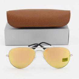 8cd3e8a43c252 1pcs Best Quality Designer Pilot Sunglasses For Men Women Vassl Brand Sun  Glasses Silver Frame Rose Pink 58mm Len with Brown Box