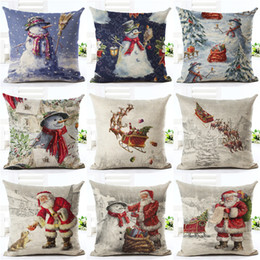 Snowing chriStmaS tree lightS online shopping - NEW Design Gift Christmas Tree Pillow Case Stug Snow Cushion Covers X45cm Flower and Birds Decor Sleigh Ride Seat Covers