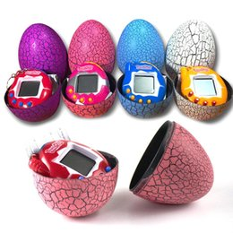 Wholesale lovely Dinosaur Egg toys Digital Electronic Pet Game Toy Game Handheld Mini Funny Virtual Pet Machine Cracked Eggs Toys