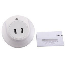 Chinese  Automation module Double USB Bedside Charger LED Light Induction Control Night Lamp18apr27 manufacturers